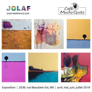 Joanne Lafrance / Jolaf expose chez Café Mucho Gusto - Arts visuels