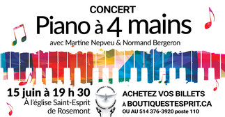 Concert Piano à 4 mains