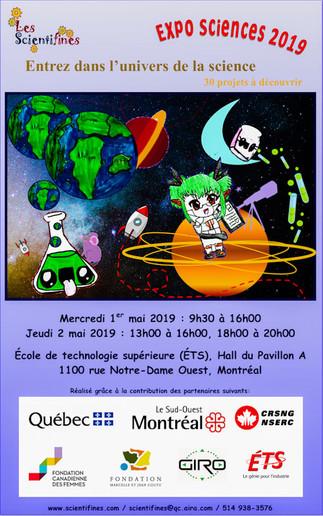 Expo-sciences 2019 Les Scientifines