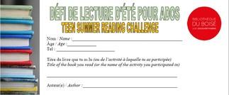 DÉFIS DE LECTURE D'ÉTÉ / SUMMER READING CHALLENGES