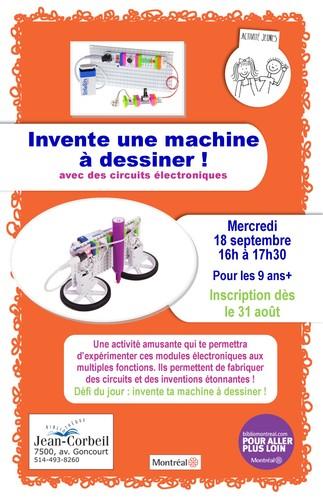 Inscriptions - Atelier d'électronique : Invente une machine à dessiner !