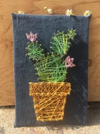 Après-midi au féminin: le string art
