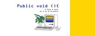Les finissant.es du D.E.S.S arts, création et technologies de l'Université de Montréal présente Public Void (){