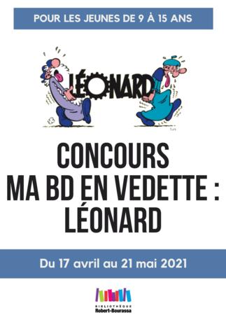 Concours « Ma BD en vedette : Léonard » (pour 9 à 15 ans)