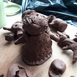 Atelier de modelage en argile