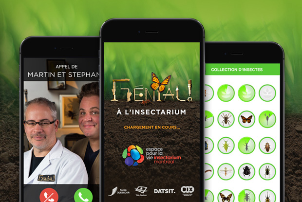 Application Génial! à l'Insectarium