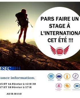 AIESEC: Séances d'information stages communautaires / professionnels