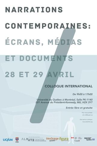 «Narrations contemporaines: écrans, médias et documents»