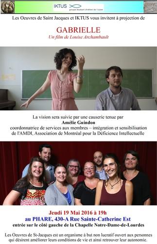 Cinéma-causerie: «Gabrielle», de Louise Archambault