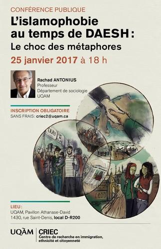 Conférence publique: «L'islamophobie au temps de DAESH: Le choc des métaphores»