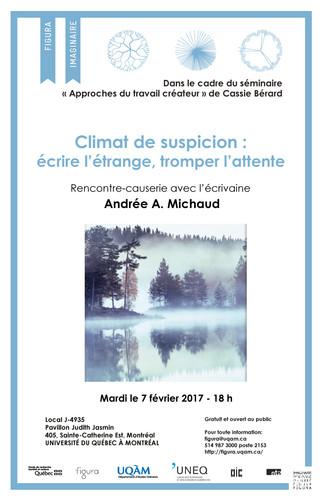 Rencontre-causerie: «Climat de suspicion: écrire l'étrange, tromper l'attente»