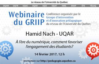 Conférence: «À l'ère du numérique, comment favoriser l'engagement des étudiants?»