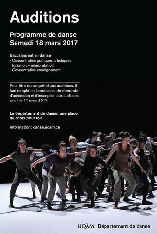 Département de danse : «Journée étudiant d'un jour»