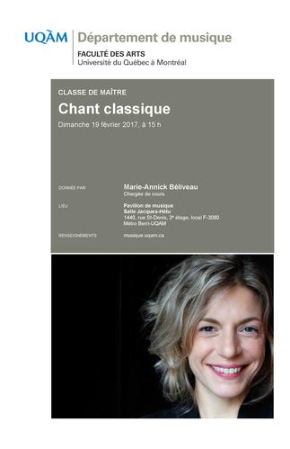 Classe de maître en chant classique