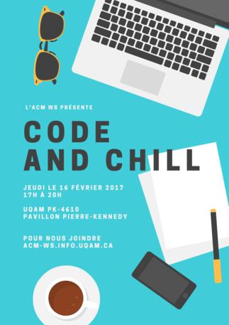 Atelier code and chill par L'ACM-WS UQAM