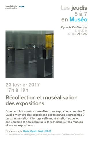 Les jeudis 5 à 7 en Muséo - Récollection et muséalisation des expositions