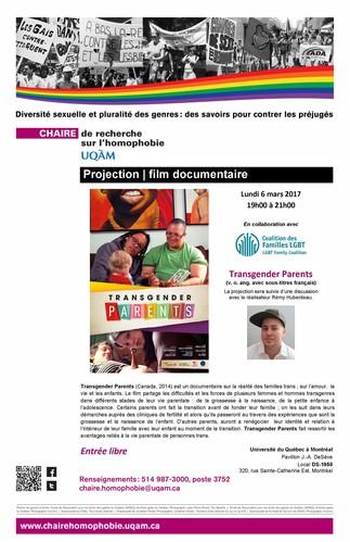 Projection du film documentaire: «Transgender Parents»