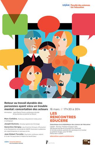 Les Rencontres Educere: «Retour au travail durable des personnes ayant un vécu un trouble mental: concertation des acteurs»