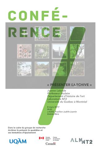 Conférence: «Présenter l'archive»
