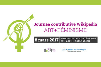 Journée contributive: «Wikipédia Art + Féminisme»