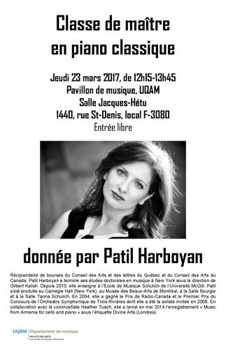 Classe de maître en piano classique, donnée par Patil Harboyan