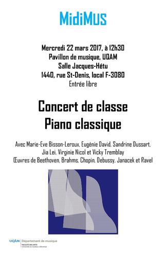 Concert: «Classe de piano classique»
