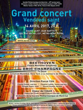 La Société philharmonique de Montréal présente le Grand concert du Vendredi saint. Du nouveau d'hier et d'aujourd'hui