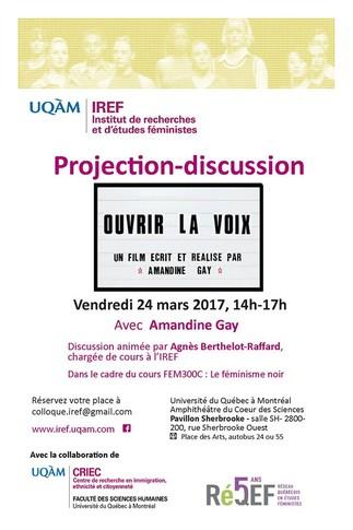 Projection: Documentaire «Ouvrir la voix» réalisé par Amandine Gay