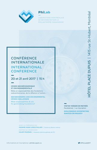 Conférence internationale du PhiLab: «Laboratoire montréalais sur la philanthropie canadienne»