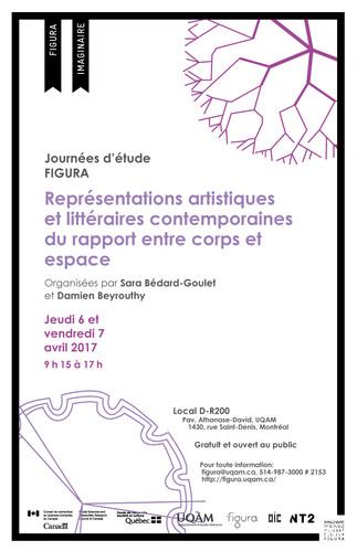 Journée d'étude: «Représentations artistiques et littéraires contemporaines du rapport entre corps et espace»
