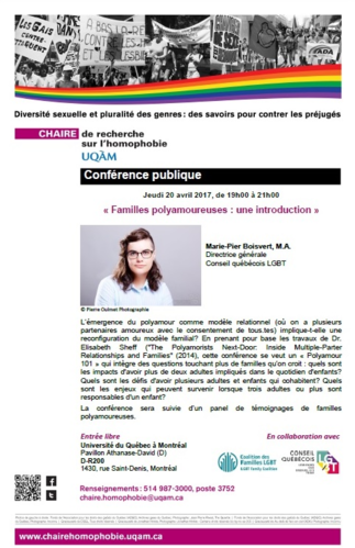 Conférence: «Familles polyamoureuses: une introduction»