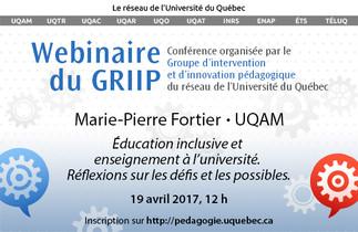Conférence: «Éducation inclusive et enseignement à l'université. Réflexions sur les défis et les possibles»