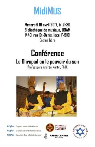 Conférence MidiMus: «Le Dhrupad ou le pouvoir du son»