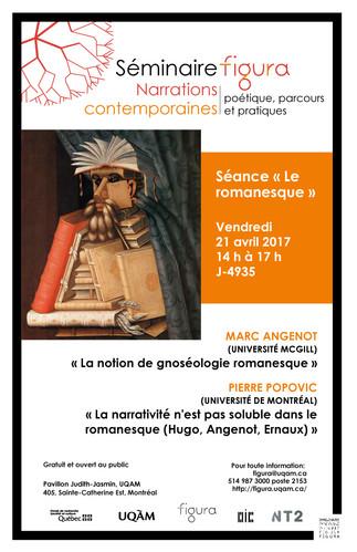 5e séance du Séminaire Figura: «Narrations contemporaines: Poétique, parcours et pratiques»