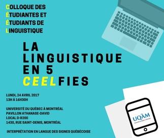 Colloque des étudiantes et étudiants de linguistique: «La linguistique en 5 ceelfies»