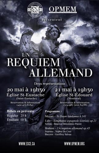 Concert: L'OPMEM et l'ECSE présentent: «Un Requiem allemand»