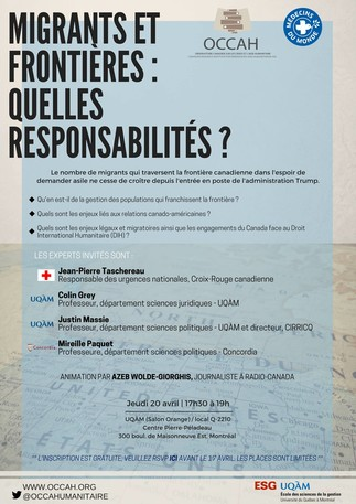 Table ronde: «Migrants et frontières: Quelles responsabilités?»