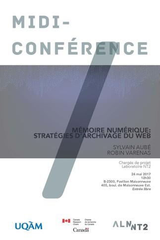 Conférence: «Mémoire numérique: stratégies d'archivage du web»