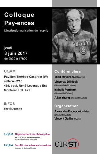 Colloque Psy-ences: «L'institutionnalisation de l'esprit»