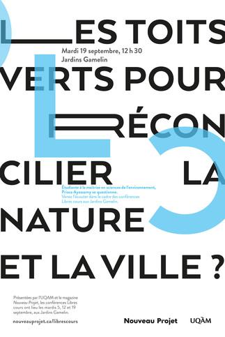 Conférence Libres cours: «Les toits verts pour réconcilier la nature et la ville?»