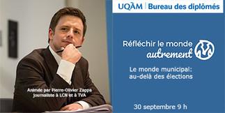 Conférence: «Le monde municipal: au-delà des élections»
