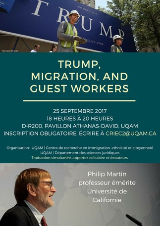 Conférence: «Trump, Migration, and Guest Workers»