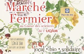 Marché fermier de l'UQAM au Coeur des Sciences