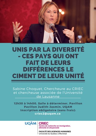 Conférence: «Unis par la diversité: ces pays qui ont fait de leurs différences le ciment de leur unité»
