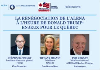 Conférence: «La renégociation de l'ALENA à l'heure de Donald Trump: enjeux pour le Québec»