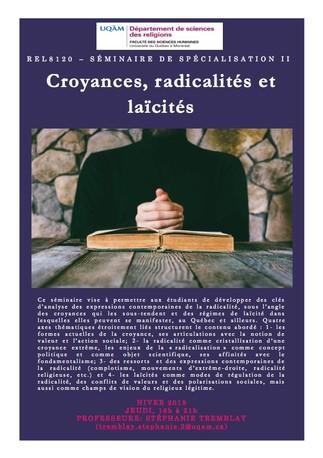 Séminaire: «Croyances, radicalités et laïcités»