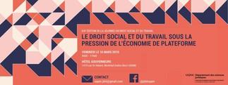 XIXe Journée de droit social et du travail: «Sous la pression de l'économie de plateforme»