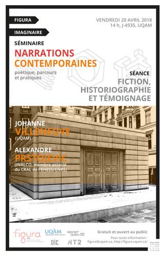 Séminaire FIGURA: «Fiction, historiographie et témoignage»