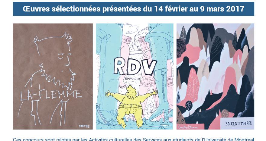 Exposition d'œuvres des concours interuniversitaires de photographie et de BD